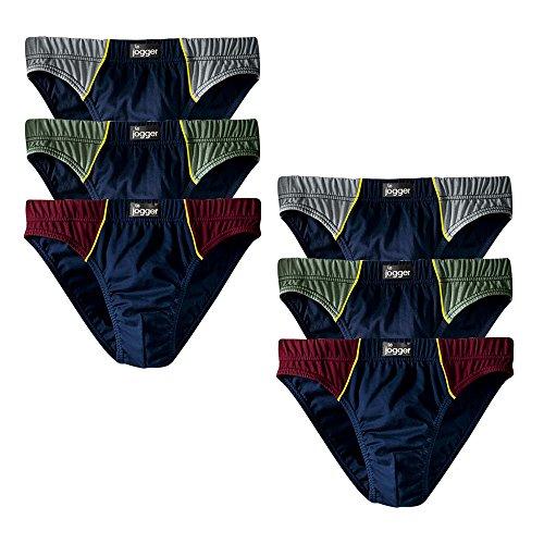 Le Jogger Herren Slips, 6er Pack, Unterhosen, Schlüpfer, Baumwolle (7, farb-set)
