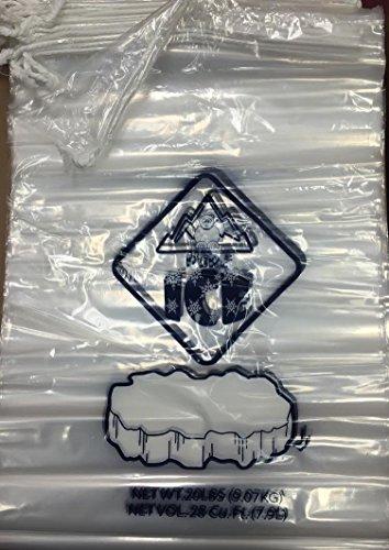 Bolsas de hielo de plástico de 250 ct con cierre de cordón