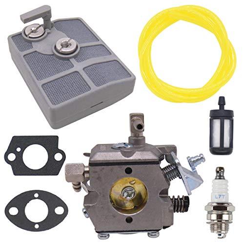 NIMTEK 031AV Carburetor with Air Filter Spark Plug for Walbro WA-2-1 Paramount PLT2145 Stihl 031 AV 031AV 030 1113-120-0602 Chainsaws