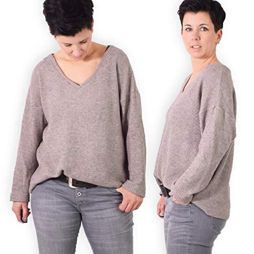 leni pepunkt Schnittmuster Damen Strick Pullover in den Größen 32-58 zum Nähen mit Kurzanleitung und 5 Webetiketten