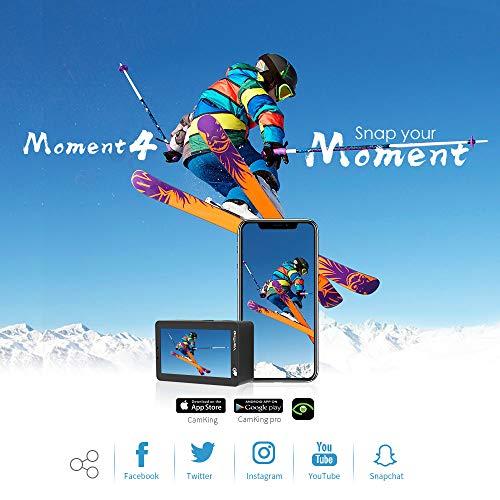VanTop 4K Action Cam mit Touchscreen, 20MP WiFi Ultra HD wasserdichte Action Kamera, 30m Unterwasserkamera, mit 32 GB TF Karte, 2 Batterien und Zubehör kits - 6