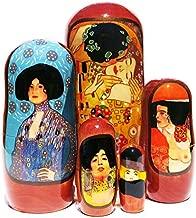 GreatRussianGifts Kiss by Gustav Klimt 5 Piece Russian Babushka Art Nesting Doll - 7