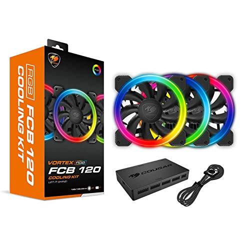 Cougar Gaming - Kit de refrigeración FCB RGB con 3 Ventiladores + Caja LED