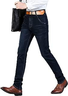メンズジーンハイストレッチファッションブラックブルーデニムブランドメンズスリムフィットジーンズサイズ30 32 34 36 38 40
