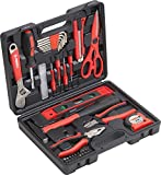 Meister Haushaltskoffer 44-teilig - Werkzeug-Set - Werkzeug für den täglichen Gebrauch / Werkzeugkoffer befüllt / Werkzeugset / Werkzeugbox komplett mit Werkzeug / Werkzeugsortiment /...