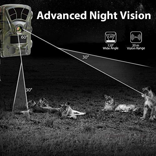 4K Caméra de Chasse WiFi Ctronics caméra Chasse 20MP Vision Nocturne Avancée PIR Détection Déclenchement 0,2S Étanchéité IP66 Angle de Surveillance de 120°Observation de la Faune