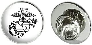 Marines USMC Black White Logo Licensed 0.75
