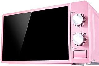 Horno de microondas 20 litros, 800 vatios, horno de microondas solo con función de descongelación, 6 ajustes de potencia, temporizador de 0-30 min, cocina rápida de un toque, fácil de limpiar ,Pink