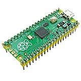 Ingcool Raspberry Pi Pico Placa de Microcontrolador con Encabezado Presoldado, Basada en Chip Raspberry Pi RP2040, Procesador Arm Cortex M0+ de Doble Núcleo,133MHz, Compatible con C/C++/Python