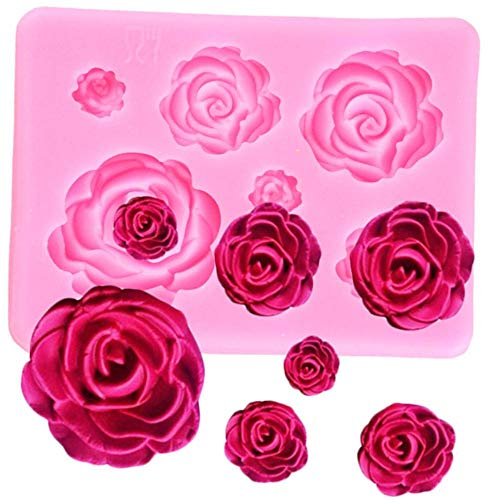 SJYM Rose Flower siliconen mallen bruiloft Cupcake Topper Fondant Cake Decorating Tools Candy Clay chocolade Gumpaste mallen