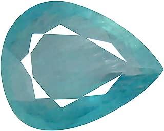 Deluxe Gems 0.65 ct Pear Cut (7 x 6 mm) Unheated/Untreated Greenish Blue Grandidierite Natural Gemstone