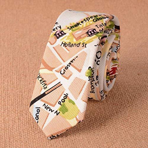 KDSXMLS Tier Katze Apfel Krawatte Elefant Schaf 100% Leinen Krawatte Mens Fashion Krawatten Designer Handmade Krawatten