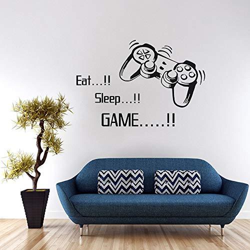 SITAKE - Adesivi da parete per camera da letto, per bambini, motivo: 'EAT Sleep Game+Gamepad',...