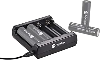 FeiyuTech AK Series Smart Battery Charger 4 Slots for 18650 Rechargeable Li-ion Batteries with USB Cable