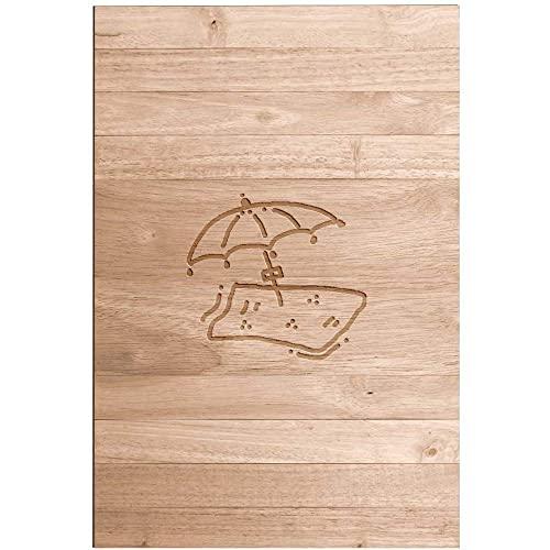 Azeeda 'Beach Towel & Umbrella' Sofa Tray / Serving Table (SF00011123)