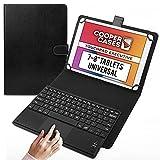 Cooper Touchpad Executive [Teclado y ratón Multi-táctil] Funda para Tablets de 7-8'| iPadOS, Android y Windows | Bluetooth y Teclas de Acceso rápido