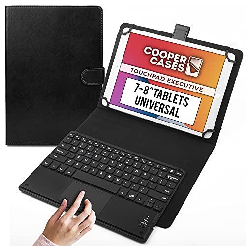 Cooper Touchpad Executive [Tastiera Multi-Touch del Mouse] Custodia per Tablet da 7-8 Pollici | Universale | iPadOS, Android, Windows | Bluetooth (Nero)
