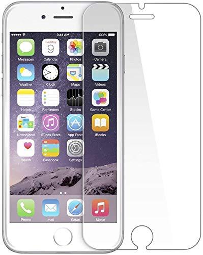 im77r 1 Unidad de Protector de Pantalla Premium 2.5D Cristal Templado Transparente 9H Compatible para Apple iPhone 6/6S Arañazos Anti Golpes Facil Instalacion Vidrio Templado