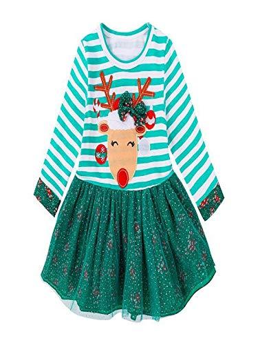 Ropa de Navidad para niños Bebé niña Rayas Princesa Vestido by LMMV