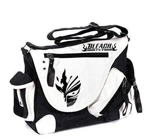 Siawasey Handtasche, Umhängetasche, Schultertasche, Schultasche mit japanischem Anime-Motiv, Cosplay Schwarz Bleichmittel Large
