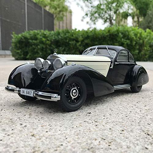 Autoks Modelo de Coche 1:18 Mercedes 540K W24 Modelo de Coche de aleación Modelo de Coche de Juguete para niños Regalos de Coche de Juguete (Color: Blanco) Vacaciones