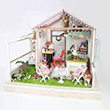 Traumland Kreative Geschenk-Dollhouse-Mini DIY Haus Kit Kreativraum, Mit LED-Leuchten Und Lautsprecher Bewegung -