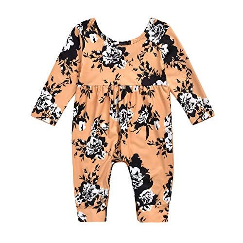 Borlai 0-24 maanden baby meisjes lange mouwen bloemen overall speelpak onesies body outfits