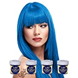 La Riche Directions Semi-Permanent Hair Colour Dye Box Of Four-Lagoon Blue by La Riche