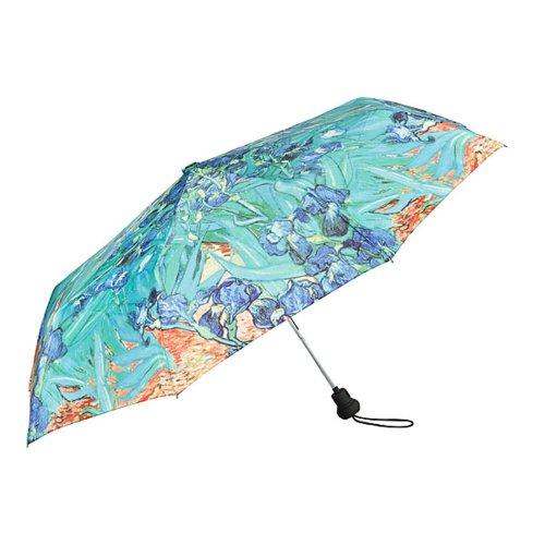 VON LILIENFELD® Zakparaplu Paraplu Automatische Stabiel Compact Vrouwen Mannen Motief Bloemen Art Vincent van Gogh: Iris