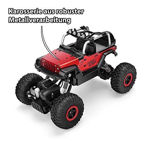 RC Auto kaufen Crawler Bild 3: Ferngesteuertes Autos,RC Auto Rock Crawler,1:18 Ferngesteuertes Monstertruck,4WD Elektrisches Offroad Fahrzeug (Blau)*