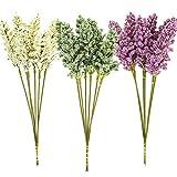 CHEPL Simulation Lavendel Blumen 18 Stück Künstliche Weizenohrblume Künstliche Blume DIY Blumenarrangement für Zuhause Garten Fenster Box Hängend Pflanzen Dekor