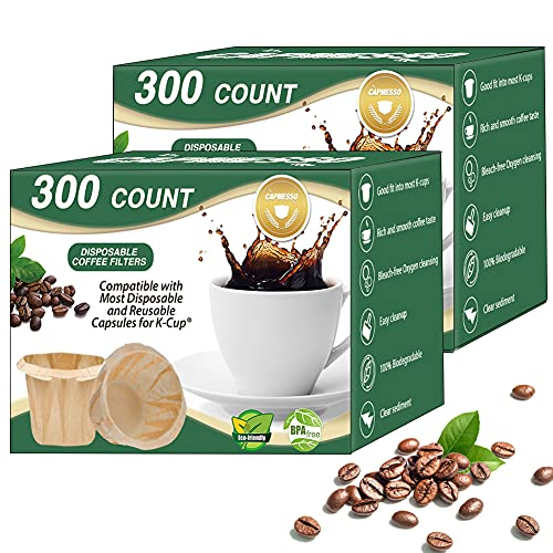 CAPMESSO Disposable Coffee Paper Filters Replacement Kerig Filter...