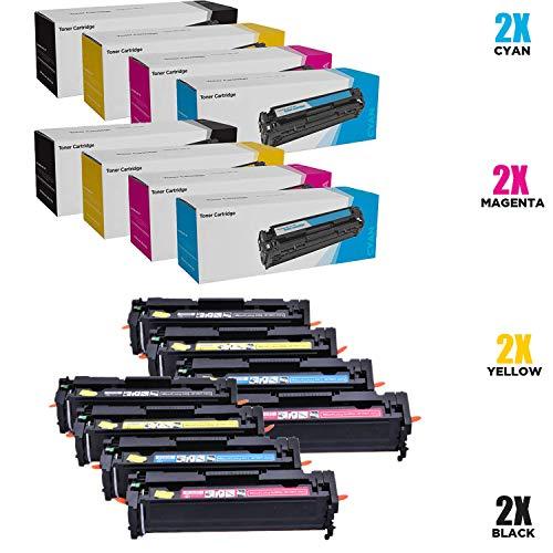 SHZJZKompatibel KEIN CHIP HP 416A W2040A W2041A W2042A W2043A Toner für HP Color Laserjet Pro MFP M479fdw, M479fdn, M454dw, M454, M454dn (Schwarz, Cyan, Magenta, Gelb, 8-Pack),8p