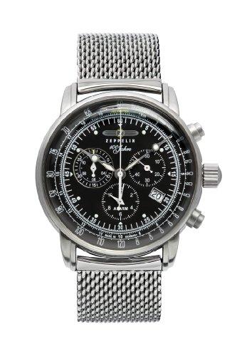 Zeppelin Watches 7680M2 - Orologio da polso uomo, acciaio inox