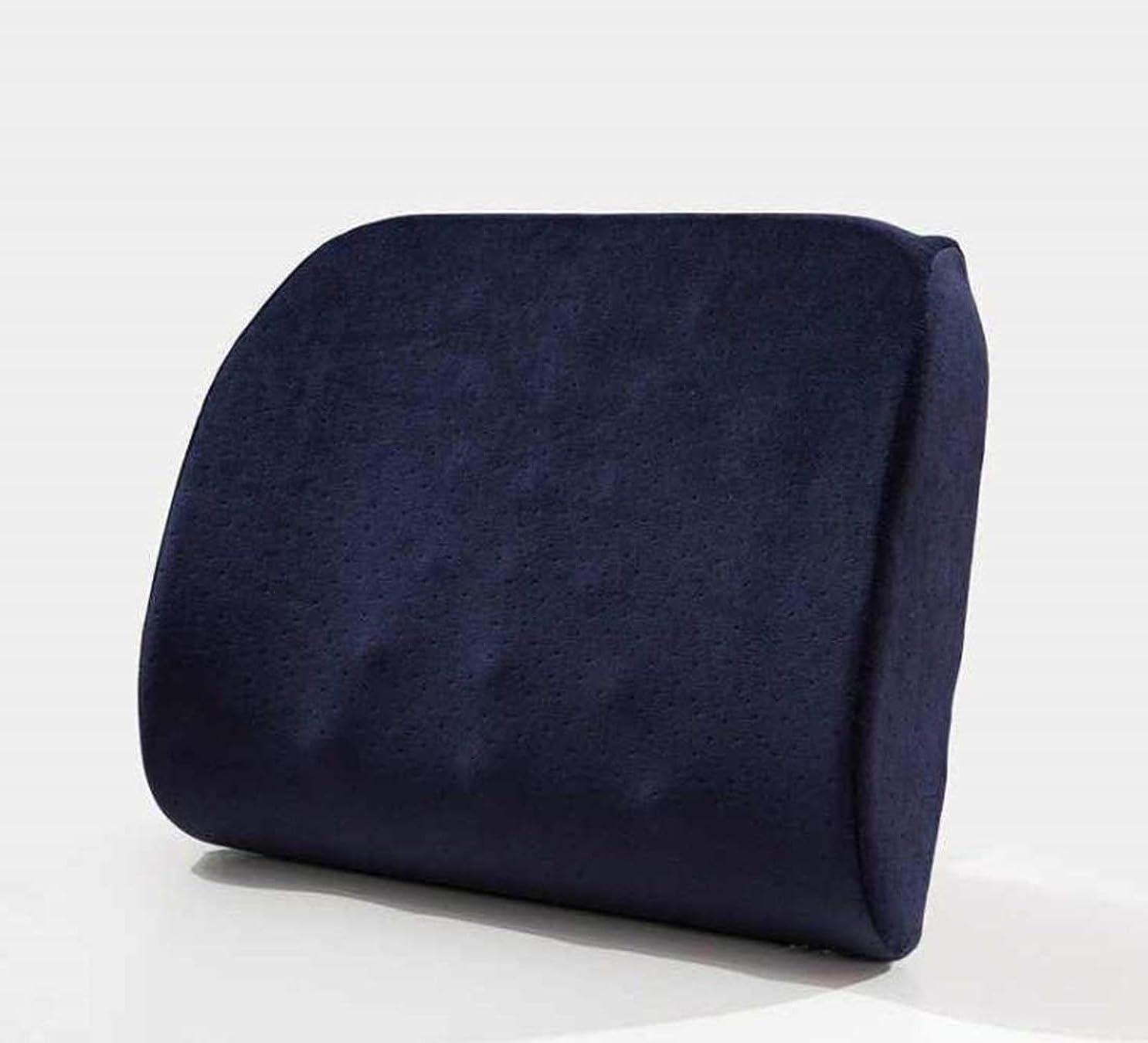 満足させる思いやり勢い方朝日スポーツ用品店 メモリ綿の腰部クッションオフィスオフィスゆっくりリバウンドカーマッサージウエストピロー (Color : ブルー)