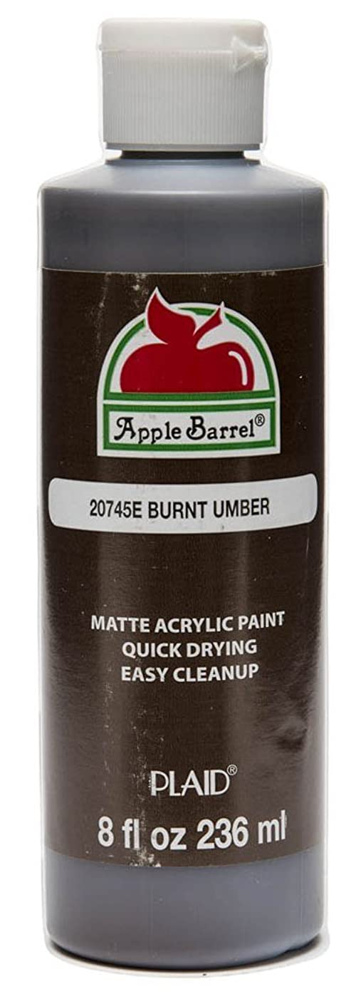 Apple Barrel Acrylic Paint in Assorted Colors (8-Ounce), 20745 Burnt Umber