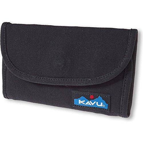 KAVU Big Spender Tri-fold Wallet Travel Clutch -Black