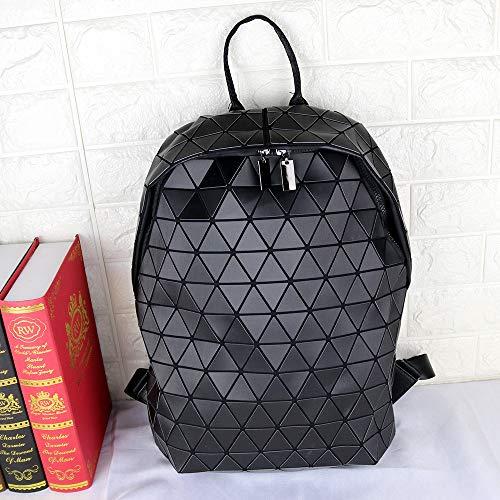 QXbecky Borsa a tracolla opaca da disegno materiale classico borsa da studente rombica zaino da uomo e donna di grande capacità borsa da alpinismo sportivo 51x39x11cm