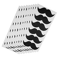 面白い髭 ひげ チョークボード 自己粘着ステッカー 黒板ラベル デカール DIY 装飾 6個×9枚