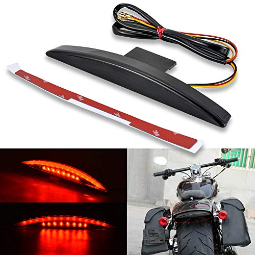 KATUR Motorcycle Rear Fender Tip 22 RED LED Brake Running Tail Light for Harley Breakout EFI FXSB CVO 2013-2017 (Smoke)