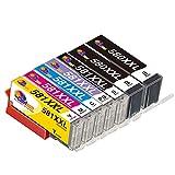 Clorisun 581 XXL CLI 581 PGI 580 Cartuccia d'inchiostro per Canon PGI-580XXL CLI 581 XXL PGBK BK C M Y PB Compatibili per Canon PIXMA TS8250 TS9150 TS8150 TS8151 TS8251 TS9155 TS8152 TS8252(7 Pezzi)
