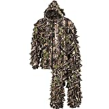 North Mountain Gear Camouflage Hunting Teen Ghillie Suit - 3D Leafy Suit