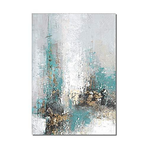 ERYUEL Cuadro Pintado a Mano Rectángulo Vertical Abstracto Pintura Pintada a Mano Pintura al óleo sobre Lienzo Arte Moderno para la decoración de la casa de la casa Lienzo Pintura
