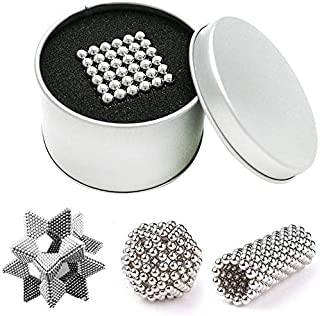 Big Fun Magnetic Balls 5mm Multi Coloured Magnets 216 Individual Magnets(Silver)