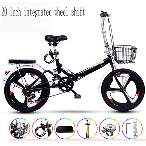 20 Inch Geïntegreerde Wheel Shift Ultralichte Draagbare Vouwfiets Voor Volwassenen Met Zichzelf Installatie