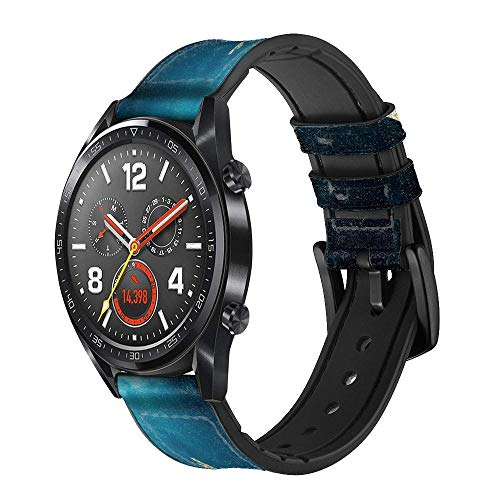 Innovedesire Mermaid Undersea Correa de Reloj Inteligente de Cuero y Silicona para Wristwatch Smartwatch Smart Watch Tamaño (22mm)
