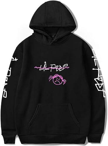 Imzoeyff Mode Unisexe à Capuche Lil Peep à Capuche Top Fille en Colère Hip Hop Rappeur Décontracté Sweat à Capuche Hommes Sweatshirts pour Hommes Femmes