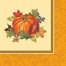 Amscan Bountiful Thanksgiving Multicolored Tableware