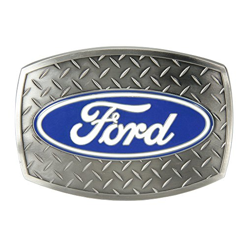 SpecCast Brand Ford Oval Diamond Plate Buckle Belt Buckle - 09119
