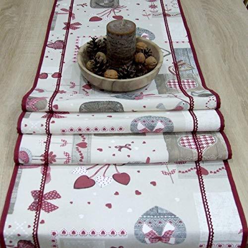 Wunderbare Tischläufer für Weihnachten, Bordeaux Patchwork, das Beste Geschenk für die schönste Küche von HomeAtelier, Weihnachtsdekoration, 130x40cm, 150x40cm, 170x40cm